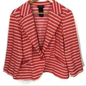 Metaphor Soft Stretchy Jersey Striped Blazer